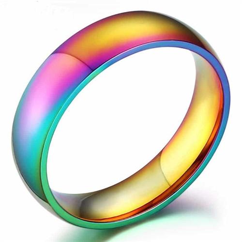 LGBT ring - fantastisk farve spil i stål