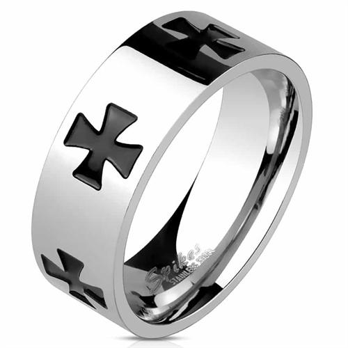 """Celtic cross"" Herrering i rustfrit stål."