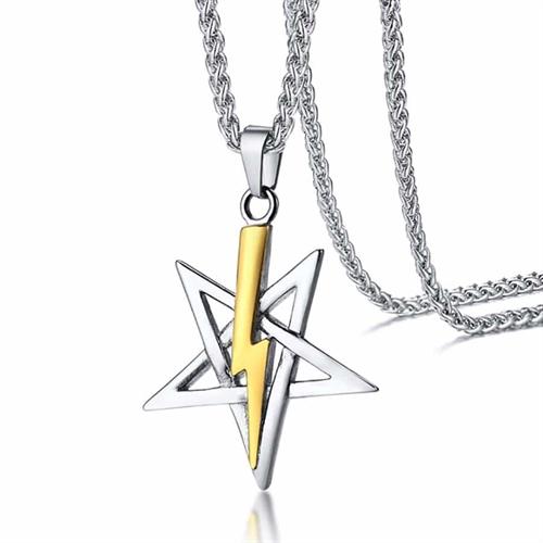 Five stars i ædelstål halskæde