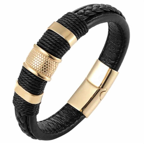 Golden black Crawe herrearmbånd.