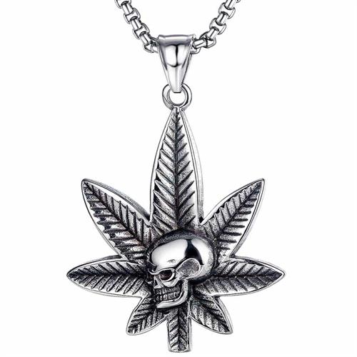 Smoke skull cannabis - halssmykke