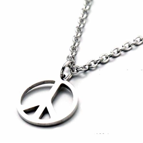 Peace halssmykke i ædelstål
