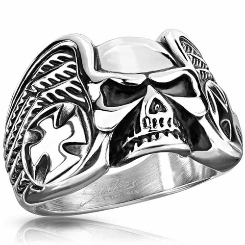 Ring off skull - Rustfri stål