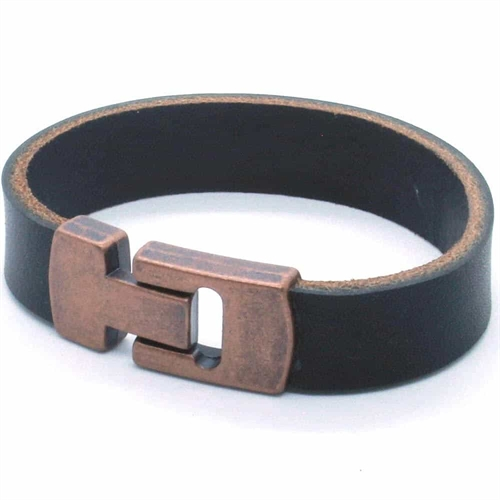 MaZo læderarmbånd Bronze