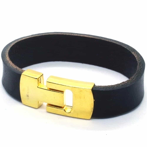 MaZo læderarmbånd Golden