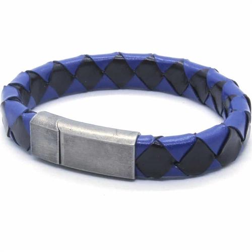 Blue/Black Netri armbånd