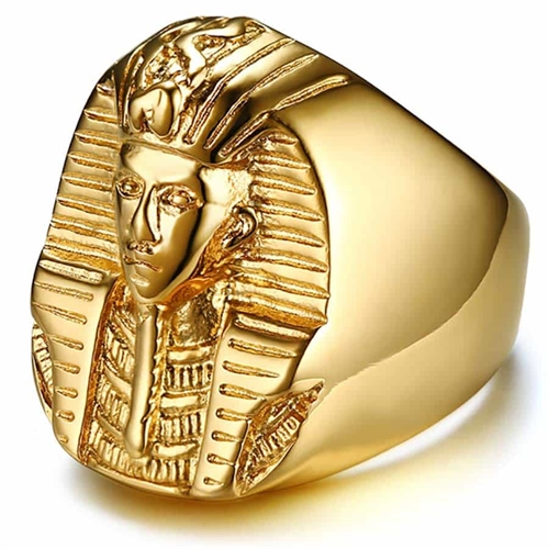 Faraos ring forgyldt