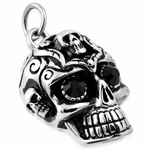 Face Of Skull - halssmykke med kæde