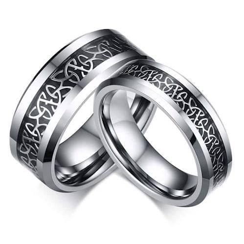 Image of   Tungsten forlovelsesring
