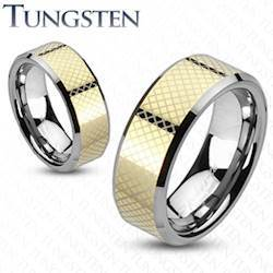 """Image of   Tungsten ring """"Gold"""""""