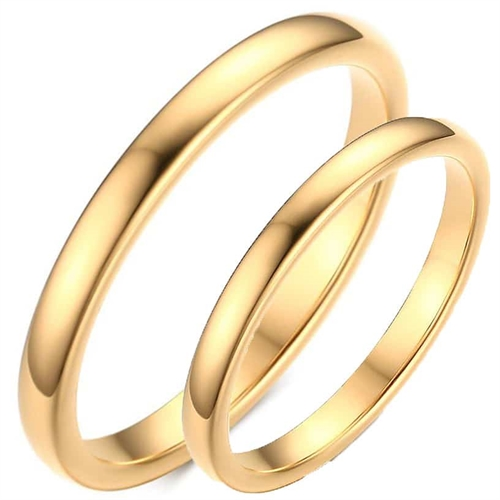 "Image of   Tungsten forlovelsesring ""Golden"""